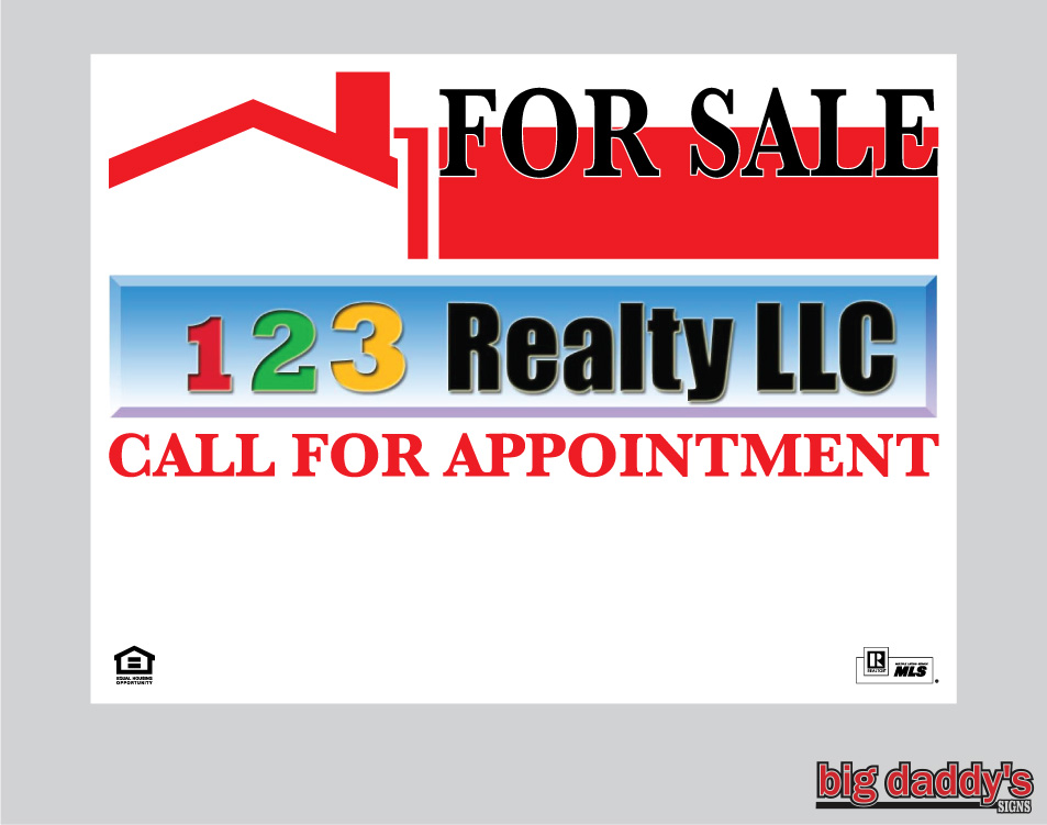 123 Realty sign photo